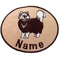 Gatto ricamato Adesivo ferro Sew On/On/personalizzato nome Badge Patch