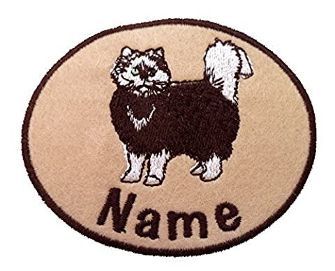 Personnalisé Chat brodé à coudre/Fer Sur/sticker Nom Badge Patch, 3 Sticker(for card decoration), cat 09