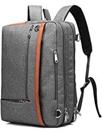CoolBELL Convertible Backpack Shoulder bag Messenger Bag Laptop Case Business Briefcase Leisure Handbag Multi-functional Travel Rucksack Fits 17.3 Inch Laptop For Men / Women (Grey)
