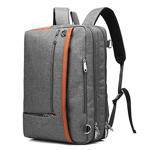 CoolBell 5506 Convertible Rucksack Schultertasche Messenger Bag Laptop Tasche Business Aktentasche grau grau 15,6 Zoll (Convertible Messenger)