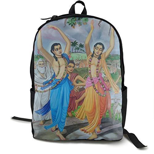 MGTXL Personality Knapsack Gaura Nitai Mochila Escolar Elegante