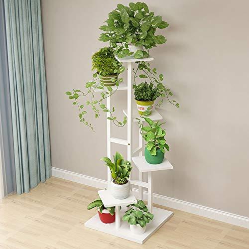 DS Flower stand Soporte de Flores, Escalera de Caracol, Estante de decoración de Plantas for el hogar Multifuncional Que Ahorra Espacio, Adecuado para: Sala de Estar/balcón/Exterior/jardín, disp