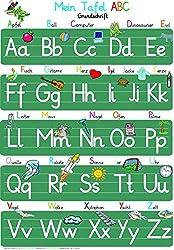 Mein Tafel ABC - Grundschrift: ABC-Lernposter, glänzend, 300g, 32 x 46 cm