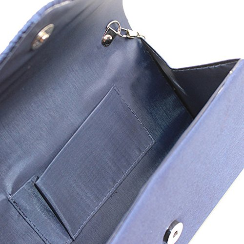 7cac19c9a1eb1 ... Damen Diamant Abendtasche Frauen Handtasche Clutch Bag Party Envelope  Bag Henkeltasche Navy ...