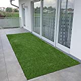 CHETANYA Polypropylene Artificial Grass Balcony Garden/Door Mat (3 x 6 Feet, Natural Green)