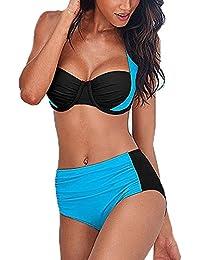 633831769712 HX fashion Costume Mare Donna Due Pezzi Bikini Push Up Schiena Nuda Vita  Alta Due Colori