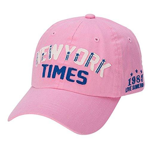 Fuibo Mens Womens Baseball Cap Fashion Buchstaben Verstellbare Strapback Hüte (Pink) (Pink Verstellbare Kappe Womens)