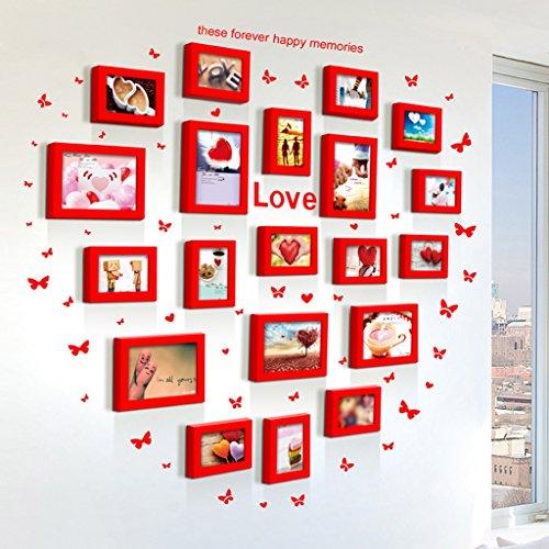 Galleria fotografica ASL Combinazione Telaio da letto Soggiorno Matrimonio Creative Room Muro Piccolo Fresh Offerta speciale a forma di cuore Carta da amore del cuore di modo di figura creativa della novità Amore Thick qualità ( Colore : B )