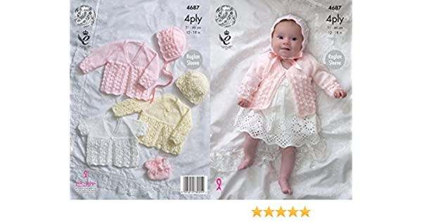 68bca3038 4Ply DK Baby Knitting Pattern Set 3115 Kingcole Babies