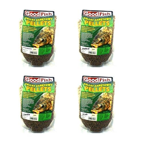0,75kg 'GOOD FISH HALIBUT PELLETS 4,5mm' Method Feeder Feederfutter Additive Futterzusatz