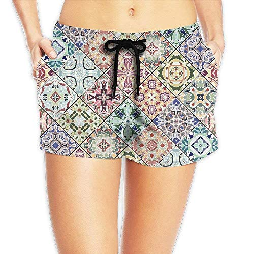 Eco Track Pant (Women's Girl Abstract Patterns Fashion Shorts Beach Swim Trunks Pants X-Large)