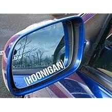 StickerStop - Conjunto de 2 pegatinas de 12 cm con el logo de Hoonigan, color blanco