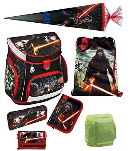 Star Wars Schulranzen Set 7tlg. Scooli Campus Up mit Schultüte / Zuckertüte 85cm SWHZ8252-GR (Campus-tüte)