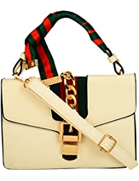 Lavu&me Women's Satchel ,girls Sling Bag &cross Body Bag ,handbag (Off-White LE065A)