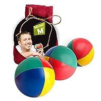 """L'artiste reconnu internationalement, également auteur et vainqueur d'innombrables festivals / prix de jonglage, """"Mister M"""", présente """"3 balles de jonglage dans un sac en toile de jute""""......... 3 balles de jonglage de grande qualité et sa vidéo d'in..."""
