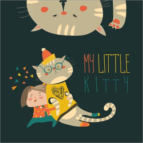 Kleine Meine Kitty (Forex-Platte 50 x 50 cm: Meine kleine Kitty von Kidz Collection /)