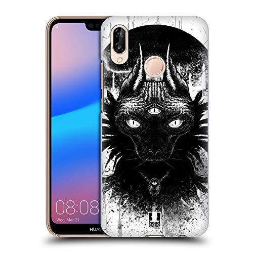 Head Case Designs Dritte Auge Goth Katze Harte Rueckseiten Huelle kompatibel mit Huawei P20 Lite - Goth Leichter