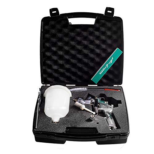 Airgunsa AZ3 HTE2 1.3mm und 1.5mm Düse im Benbow Master-Kit Koffer mit Reinigungsset, Pistolenschlüssel und Steckfilter 12-teilig - Auto Air-pistole Semi