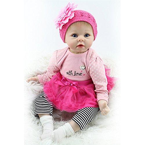 Nicery Munecas Reborn Baby Vinilo de Silicona Suave para Niños y Niñas Cumpleaños 20-22 Inch 50-55 cm Juguetes gx55-37es