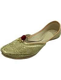 Le Style De La Peau N Khussa Pas Femme Chaussures Plates, Couleur Multicolore, Taille 41.5