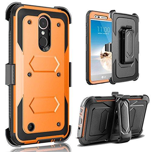 LG K30Fall, LG K102018Fall, LG K30Phone Fall-J. West Fullbody Robuste, Gürtelclip Holster Ständer Fall Ohne integrierten Displayschutzfolie, 398-Orange Sprint Handy-handsets