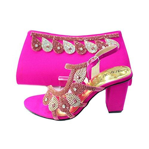 Wear & Walk UK , Damen Sandalen mehrfarbig mehrfarbig Shocking Pink