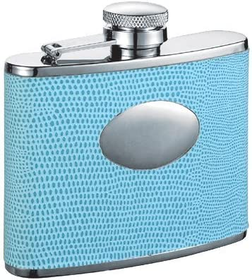 Visol Leather Wrapped Flask, Lizard Skin Pattern, 4-Ounce, blu by by by Visol Products B00OSCCZWM Parent   Bella apparenza    Regalo ideale per tutte le occasioni  0e37d8