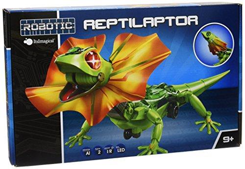 itsImagical Reptilaptor - Robot interactivo de reptil para montar, uni