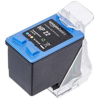 AmazonBasics Remanufactured Ink Cartridge Replacement for HP 22, Tri-Colour