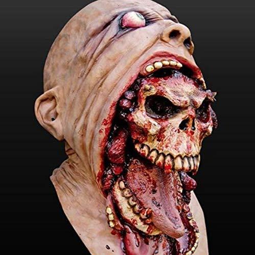 Clown Maske Zombie Halloween Maske Schmelzen Horror Kostüm Tot Beängstigend Kopf Blutig pro