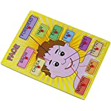 Vivir™ Wooden Face Parts Educational Puzzle Learning Toys For Kids (Boy)