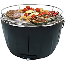 Aobosi Barbacoa Portátiles Carbón Grill con Ventilador Turbo Incorporado y Bolsa de Viaje, Parrilla de Acero Inoxidable, Perfecto Para Acampar, Picnics o Barbacoa en el Hogar.