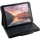 Galaxy Tab S3 9.7 Keyboard case, Pasonomi Ultra-Thin Folding PU Leather Folio Case Cover & Detachable Wireless Bluetooth Keyboard Cover Case for Samsung Galaxy Tab S3 9.7 SM-T820/SM-825 Tablet (Black)