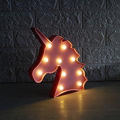 Idea Regalo - Jysport - Lampada da notte a forma di unicorno, luce soffusa, ideale come decorazione per la stanza dei bambini, Pink