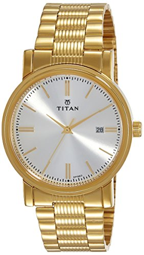 Titan Analog Off-White Dial Men's Watch-NJ1712YM02