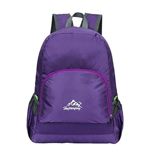 Ultra leggero da viaggio impermeabile escursionismo arrampicata campeggio Zaini Casual scuola borsa a tracolla per adolescenti e bambine Viola