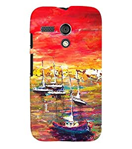 GADGET LOOKS PRINTED BACK COVER FOR Motorola Moto G MULTICOLOR