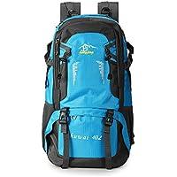 Preisvergleich für TENGGO 40L Unisex Nylon Outdoor-Rucksack Wandern Camping Wasserdicht Travel Bag-Dunkelblau