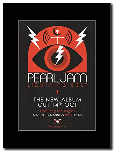 Pearl Jam - Out 14th October Lightning Bolt Magazine Promo on a Black (Pearl Jam Memorabilia)