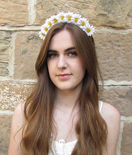 Petite couronne cheveux fleur marguerite Blanc Jaune Guirlande Boho Bandeau festival V94 * * * * * * * * exclusivement vendu par – Beauté * * * * * * * *