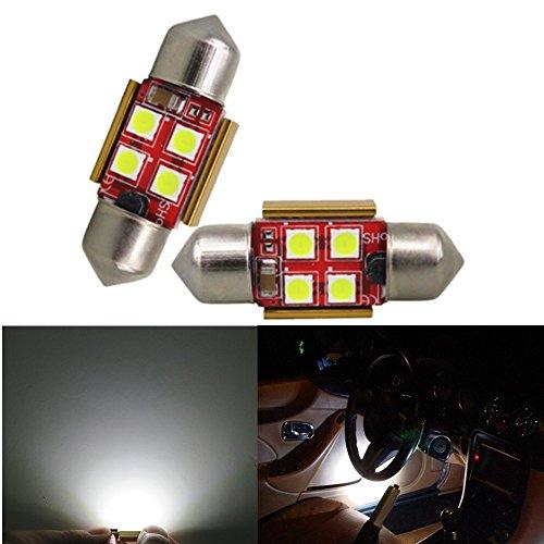 Preisvergleich Produktbild wljh 31 mm 36 mm 39 mm 41 mm 3030SMD LED Canbus Fehlerfrei Soffitte Licht DE3175 C5 W C10 W SV8.5 High Power Helle Auto Interieur Kuppel Nummernschild Karte Lichter,  2 Stück