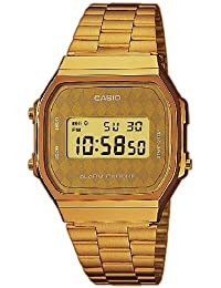 Casio Collection – Reloj Unisex Digital con Correa de Acero Inoxidable – A168WG-9BWEF