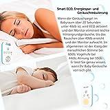 Willcare Babyphone mit Gegensprechfunktion, Baby-Einheit Nachtlicht bis zu 300m Grosse Reichweite, Geräuschpegel-Anzeige & Batteriebetrieben Die Eltern-Einheit,DBM-6 … (1RX+1TX) - 5