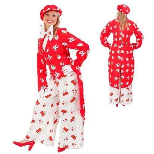 Damen und Herren-Kostüm Frack Köln, rot Gr. XXL-XXXL