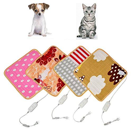 TJW Heizdecken, Hund Warm elektrisch beheizt Decke Matte Pad Weiches Bett für Pet Cat Dog von (45* 45cm) - Pad Pet-erwärmung