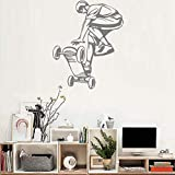 Lkfqjd Arte Skateboard Ride Ragazzi Wall Stickers Murales Grande Hall Wallpaper Camera Adolescente Stickers Murali Ornamento Rimovibile Poster Hot 56 * 70 Cm