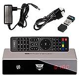 Terrestrisches- (DVB-T2) + Kabelfernsehen (DVB-C) SET von HB DIGITAL: Opticum HD Odin 2 Hybrid Linux Receiver WEIß WEISS HEVC DVB-T2 und DVB-C Receiver + Nano WLAN Stick von HB-DIGITAL + HDMI Kabel || (Full HD, HEVC/H.265, H.264, HDTV, HDMI, SCART, USB 2.0 DVBT DVBT2 DVB-T2 DVBC Kabel Fernsehen)