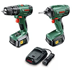 Bosch Psb 1800 Li-2 + Pdr 18 Li Cordless Combiimpact Drill Twin Pack With Two 18 V Lithium-ion Battery