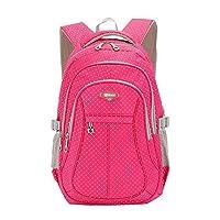 SellerFun Kid Child Girl Multipurpose Dot Bookbag School Bag Backpack