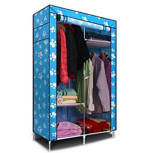 MMM& Armoire en tissu simple Armature en acier renforcé Grande armoire de rangement Penderie (couleur : # 3)